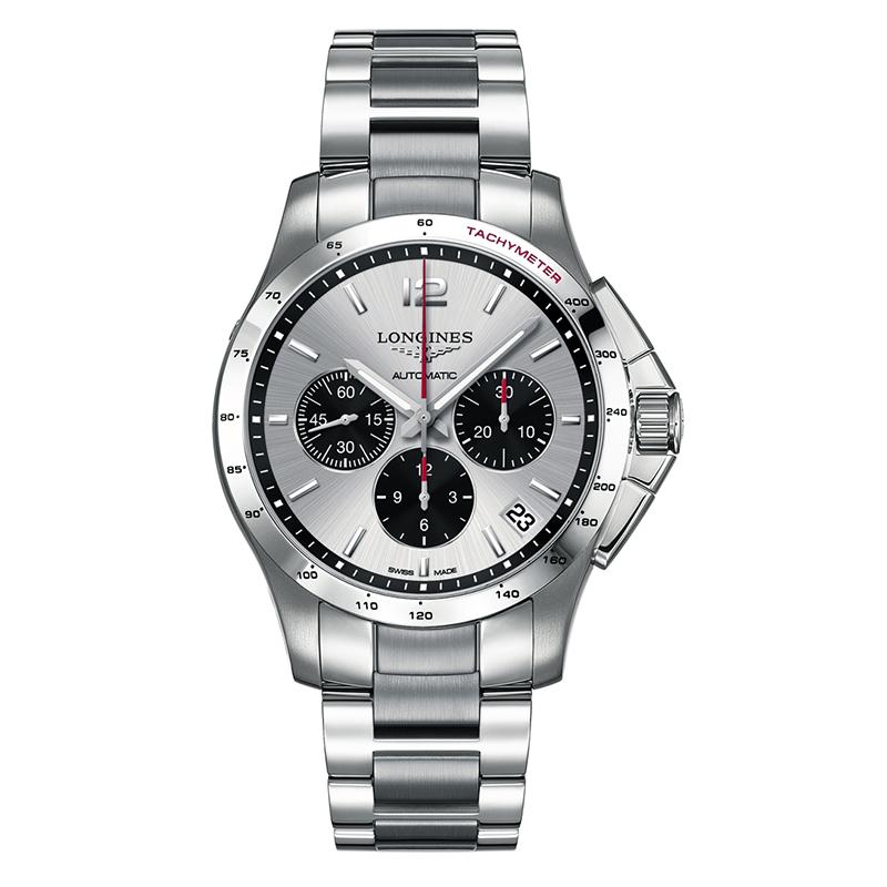 gioielli-e-orologiUomoOrologio Longines Conquest quadrante argento