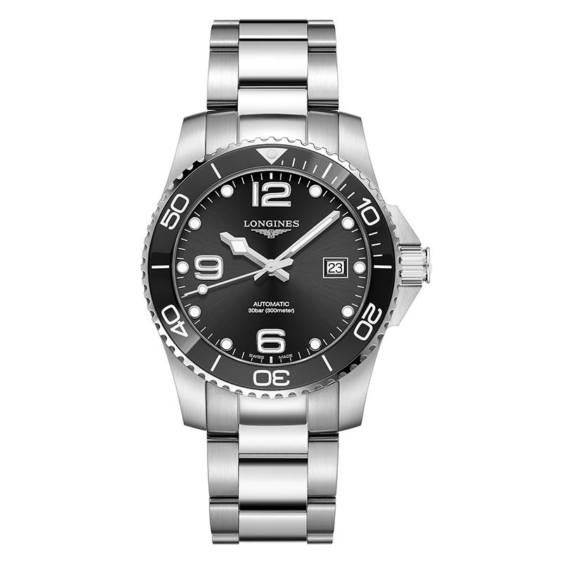 gioielli-e-orologiUomoOrologio Longines Hydroconquest acciaio nero 41mm