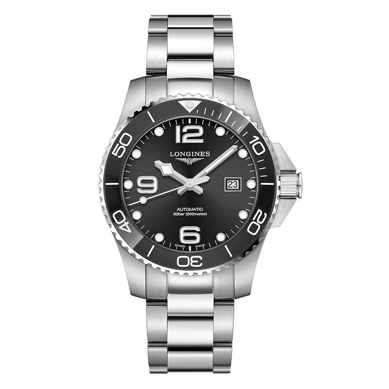 gioielli-e-orologiUomoOrologio Longines Hydroconquest acciaio nero 43mm