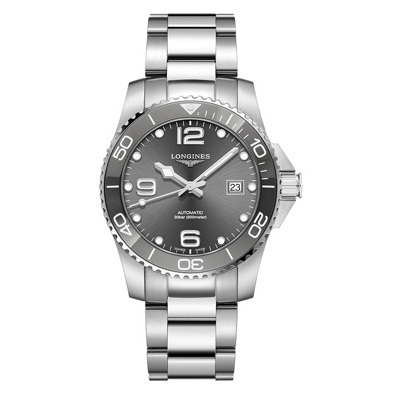 orologiUomoOrologio Longines Hydroconquest Ceramic 41mm acciaio grigio