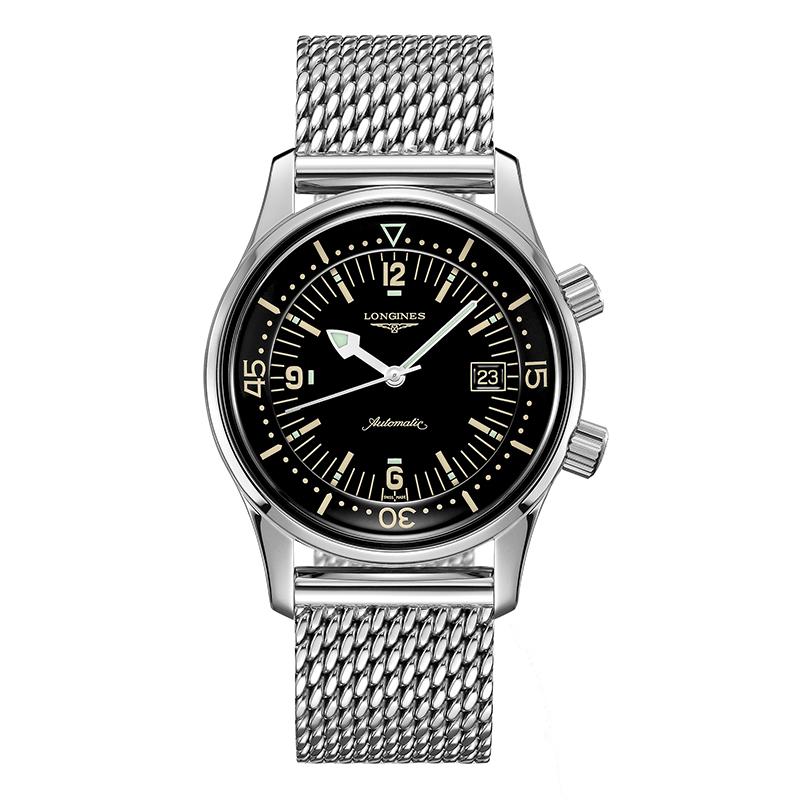 gioielli-e-orologiUomoOrologio Longines Legend Diver acciaio nero laccato