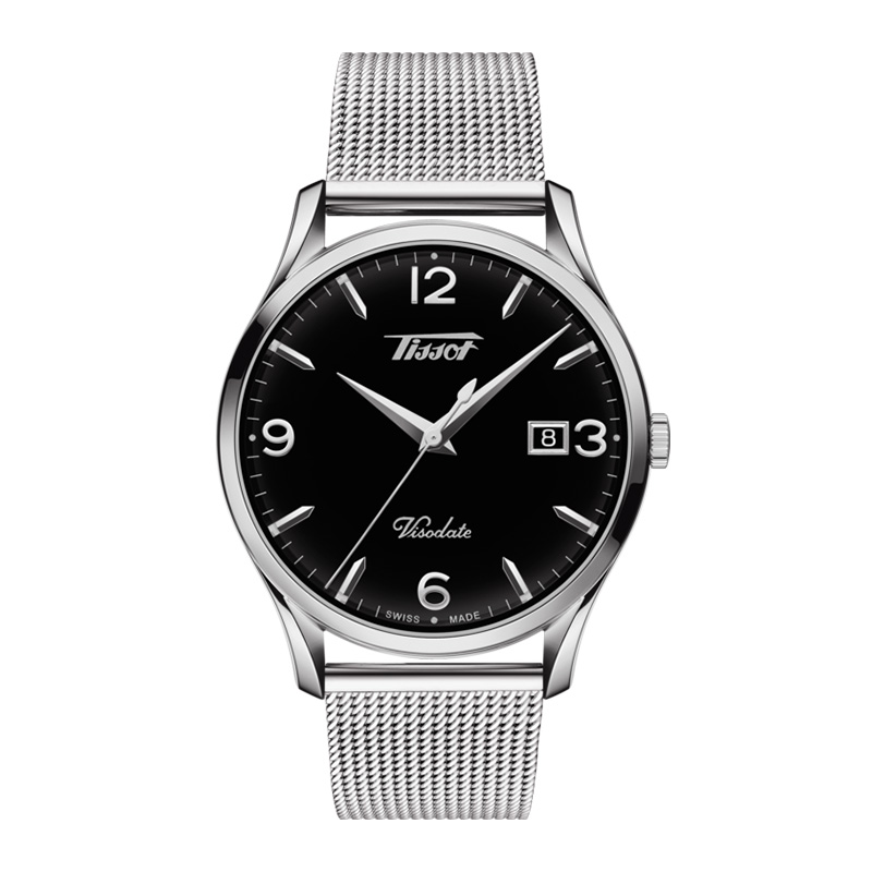 orologiUomoOrologio Tissot Heritage Visodate acciaio nero
