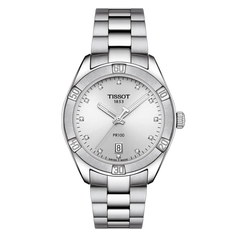orologiDonnaOrologio Tissot PR 100 Sport Chic acciaio diamantini