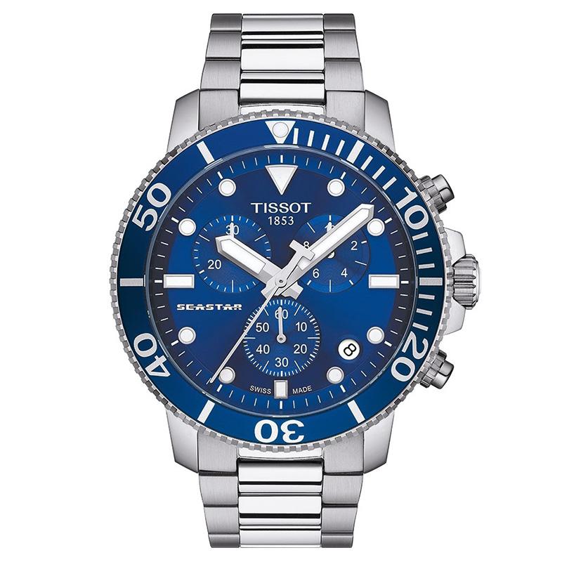 orologiUomoOrologio Tissot Seastar 1000 chrono quartz acciaio blu