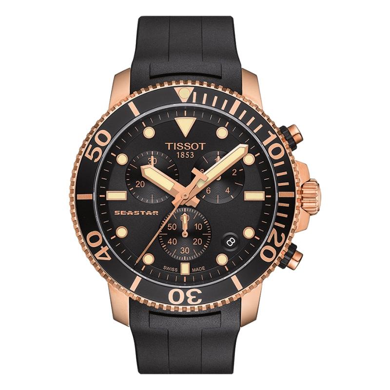 orologiUomoOrologio Tissot Seastar 1000 chrono quartz nero oro