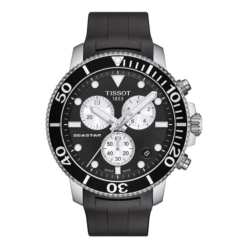 orologiUomoOrologio Tissot Seastar 1000 chrono quartz nero