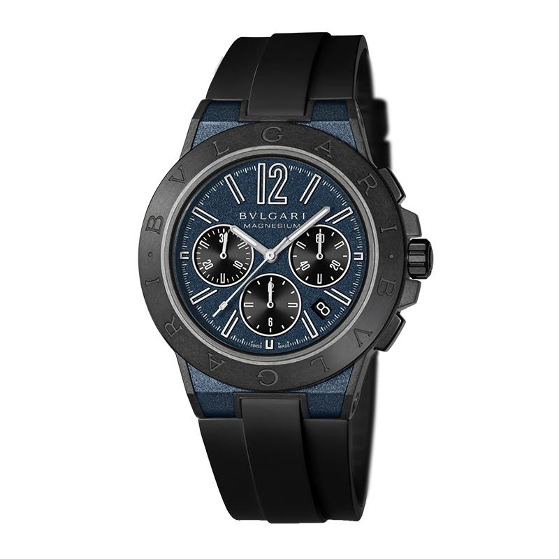 orologiUomoOrologio Bulgari Diagono Magnesium Chrono blu