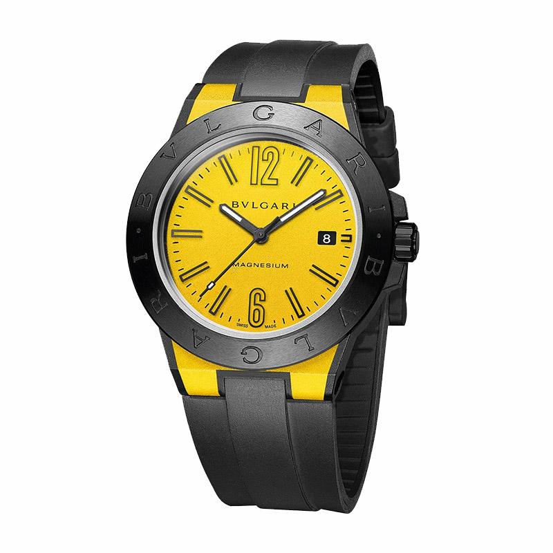 orologiUomoOrologio Bulgari Diagono Magnesium giallo