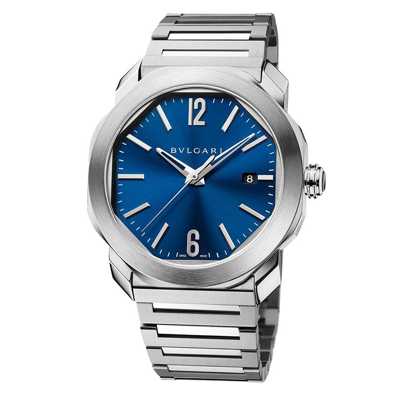 orologiUomoOrologio Bulgari Octo Roma acciaio blu