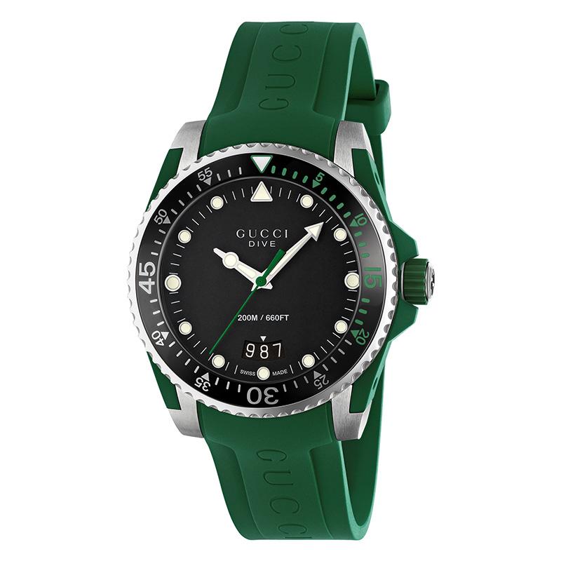 orologiUomoOrologio Uomo Gucci Dive gomma verde