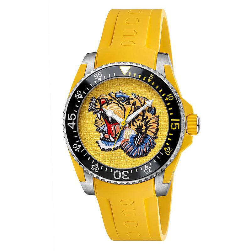 orologiUomoOrologio Uomo Gucci Diver tigre giallo