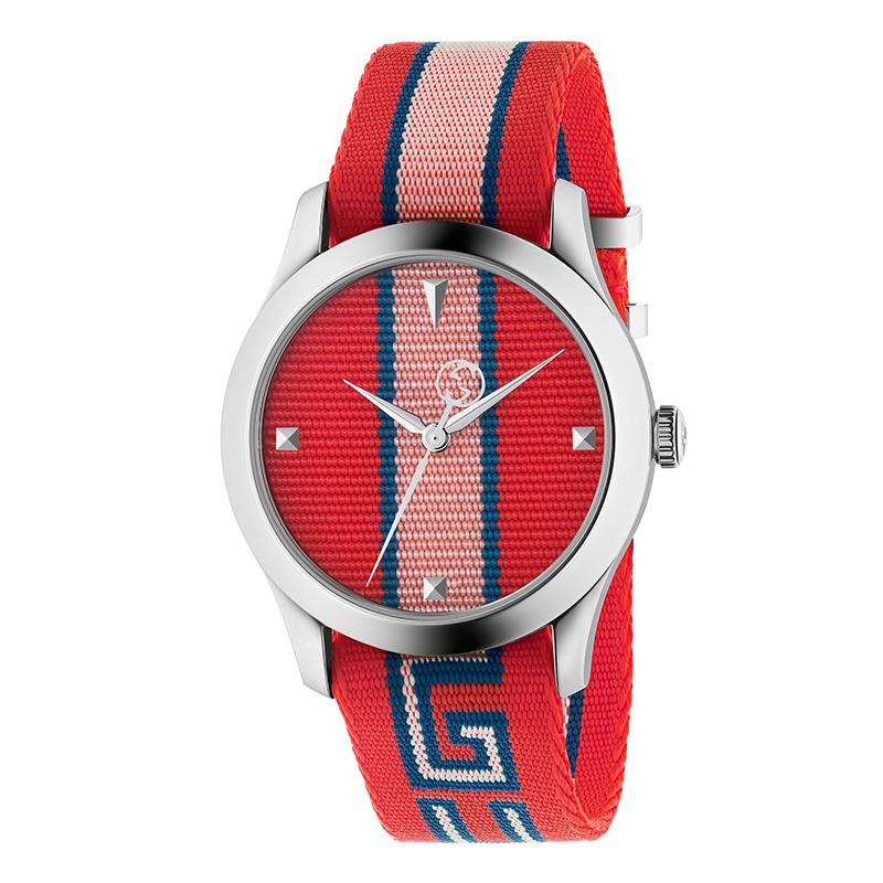 orologiUomoOrologio Uomo Gucci G-Timeless nylon rosso