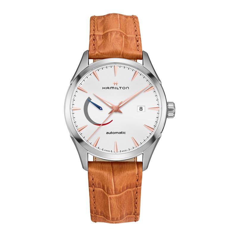 gioielli-e-orologiUomoOrologio Uomo Hamilton Jazzmaster auto reserve cinturino arancio