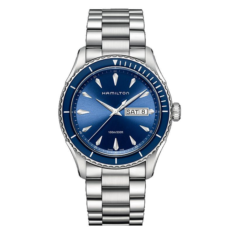 gioielli-e-orologiUomoOrologio Uomo Hamilton Jazzmaster Seaview Day quadrante blu