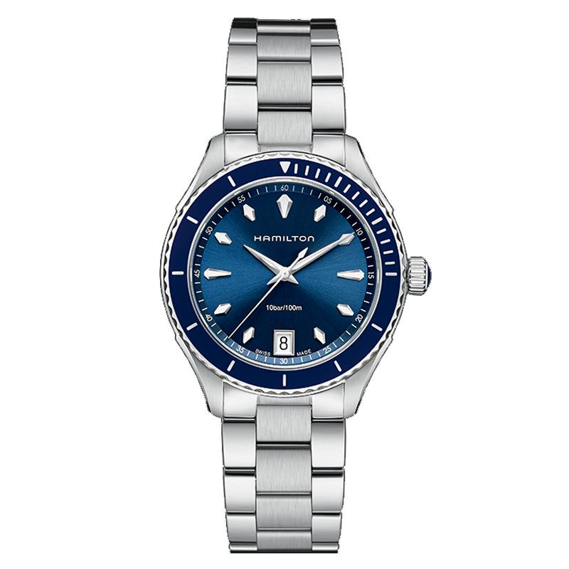 orologiUomoOrologio Uomo Hamilton Jazzmaster Seaview quadrante blu