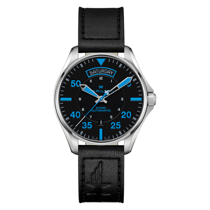 gioielli-e-orologiUomoOrologio  Hamilton Khaki Aviation Pilot blu