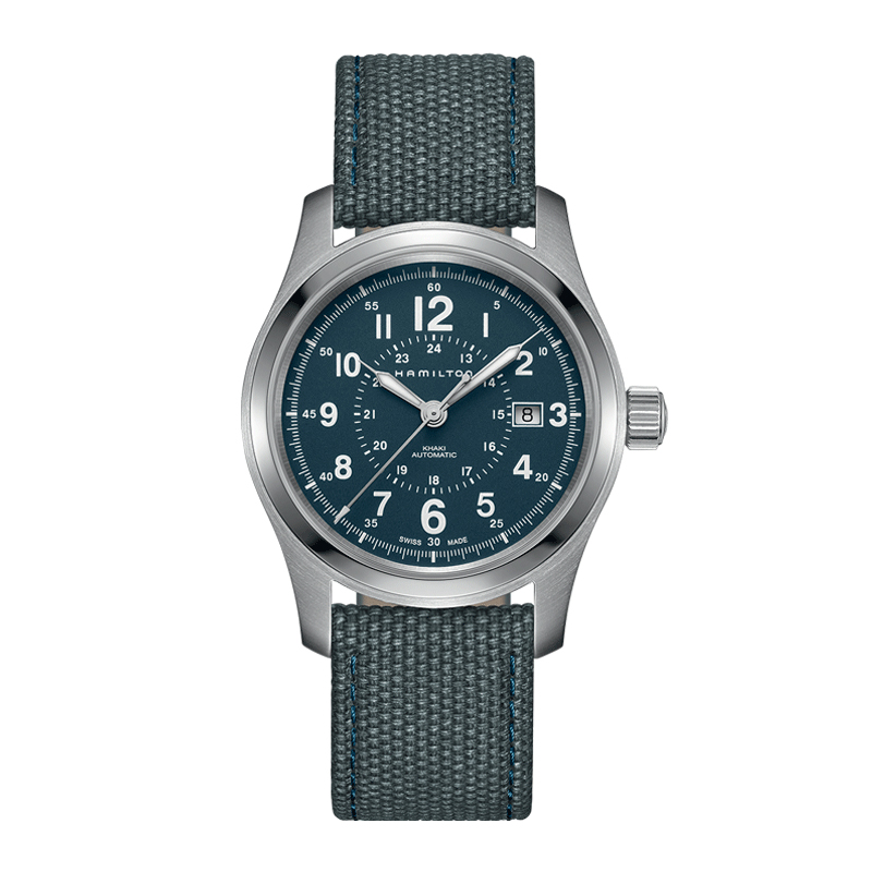 gioielli-e-orologiUomoOrologio  Hamilton Khaki Field automatico blu
