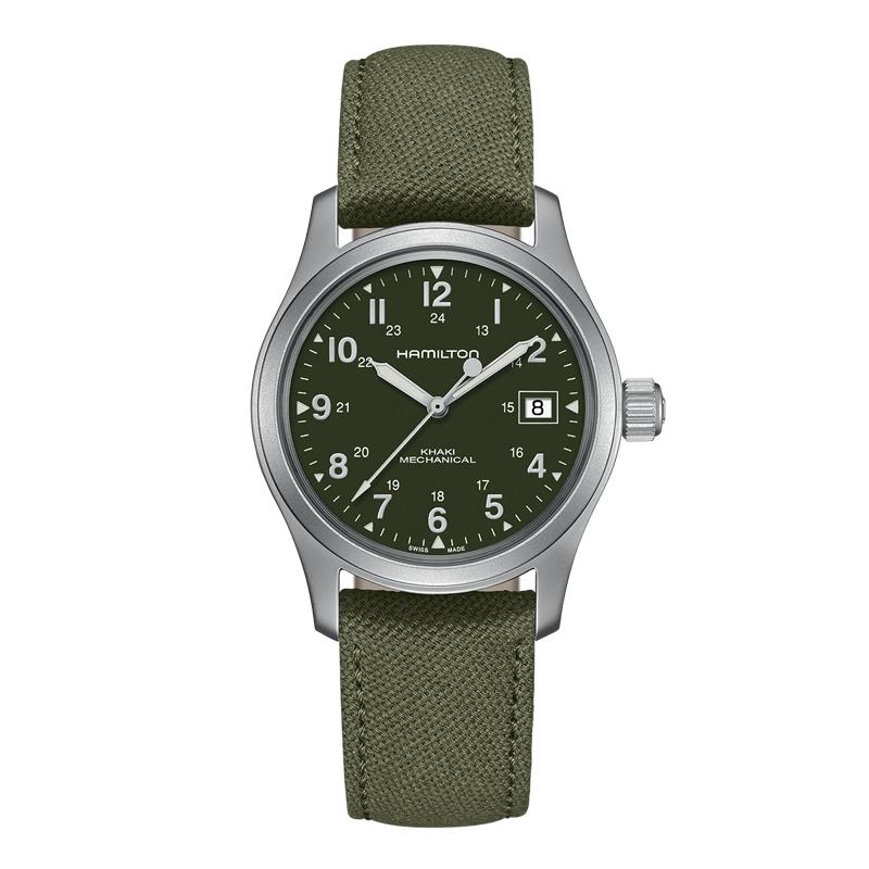 gioielli-e-orologiUomoOrologio  Hamilton Khaki Field mechanical verde