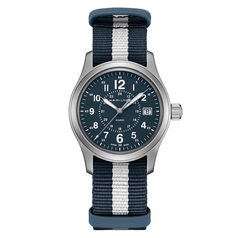 gioielli-e-orologiUomoOrologio Uomo Hamilton Khaki Field quarzo blu