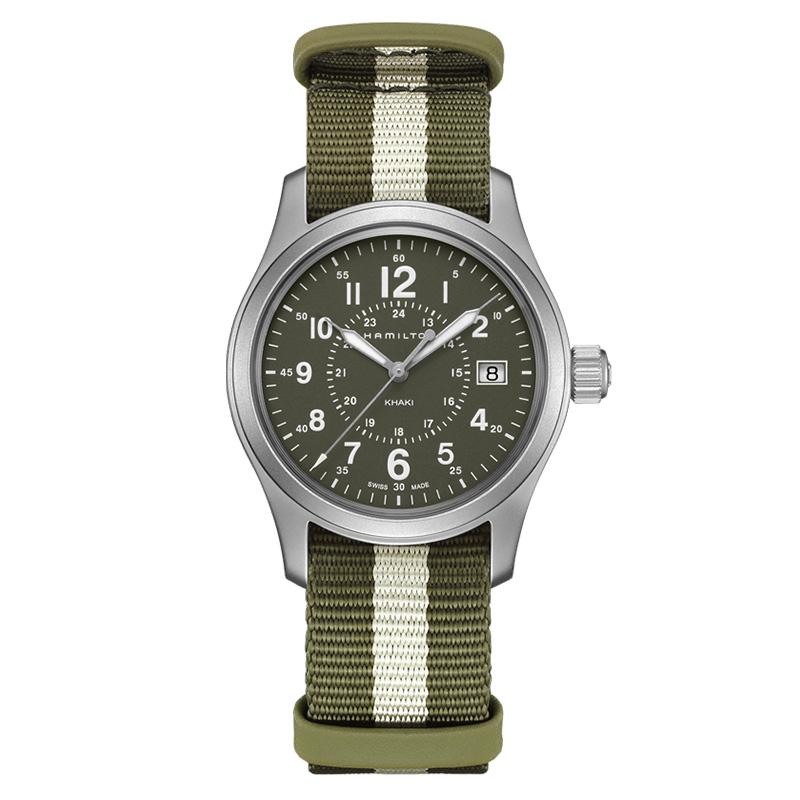 gioielli-e-orologiUomoOrologio  Hamilton Khaki Field quarzo verde