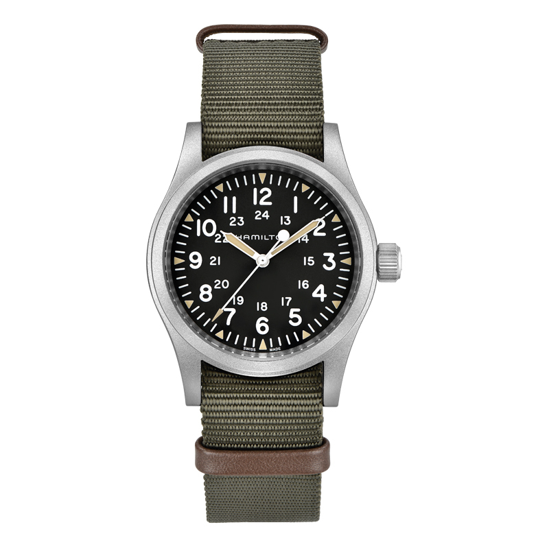 gioielli-e-orologiUomoOrologio  Hamilton Khaki Field tessile verde