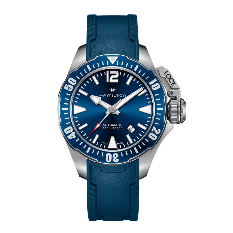 gioielli-e-orologiUomoOrologio Uomo Hamilton Khaki Navy Frogman blu