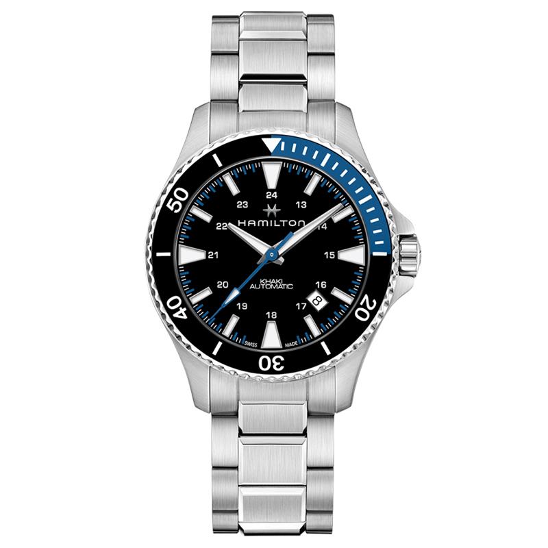 gioielli-e-orologiUomoOrologio Uomo Hamilton Khaki Navy Scuba acciaio nero blu