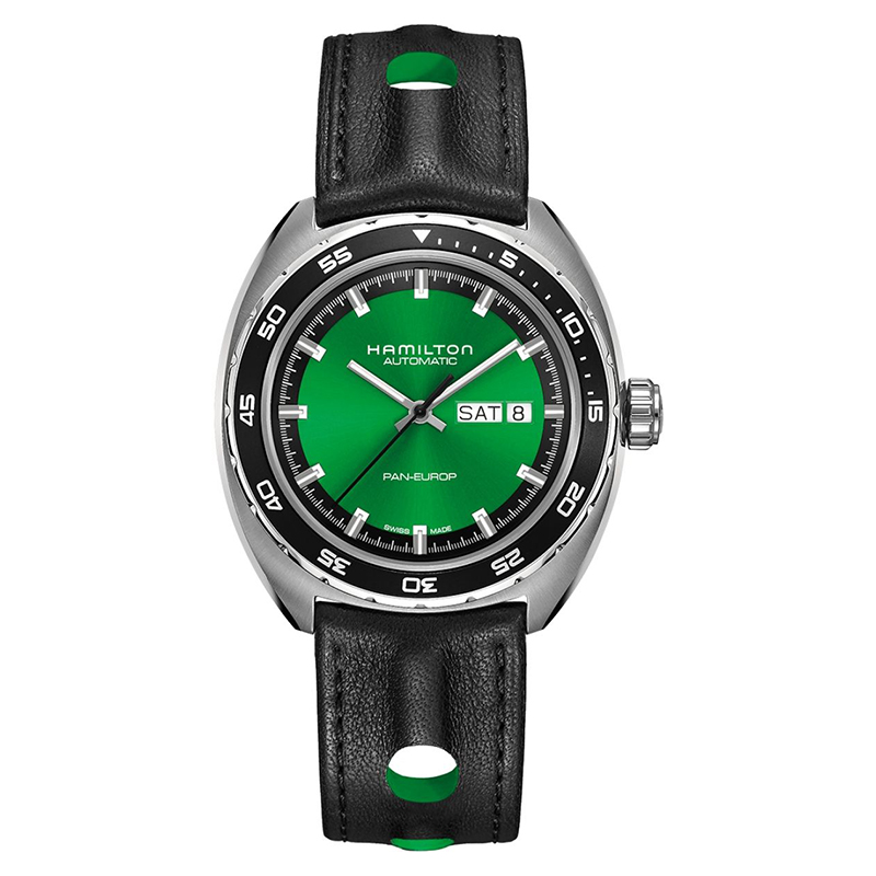 gioielli-e-orologiUomoOrologio  Hamilton Pan Europ verde