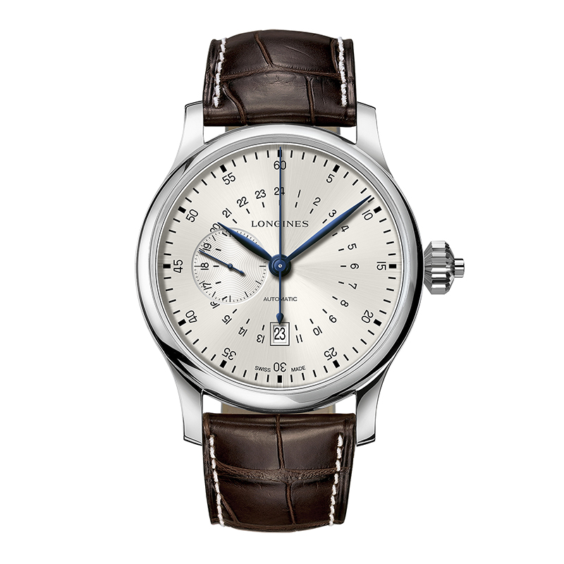 orologi Uomo Orologio Longines 24 Hours Single Push-Piece Chronograph