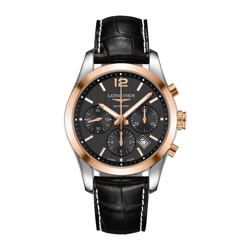 gioielli-e-orologiUomoOrologio Uomo Longines Conquest Classic quadrante nero