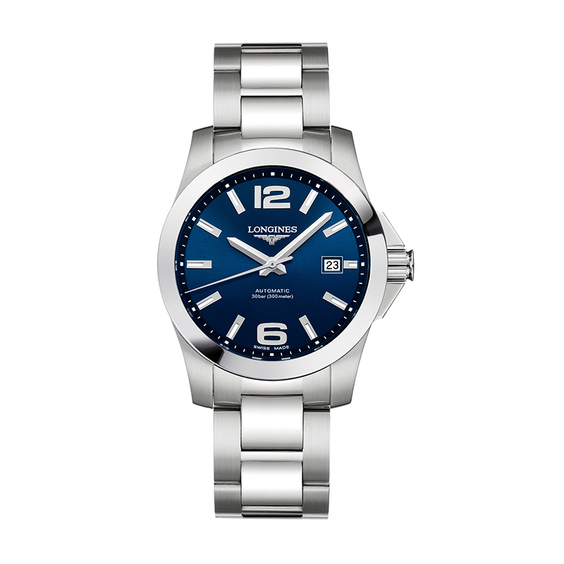 Orologio Uomo Longines Conquest quadrante blu 39.00mm