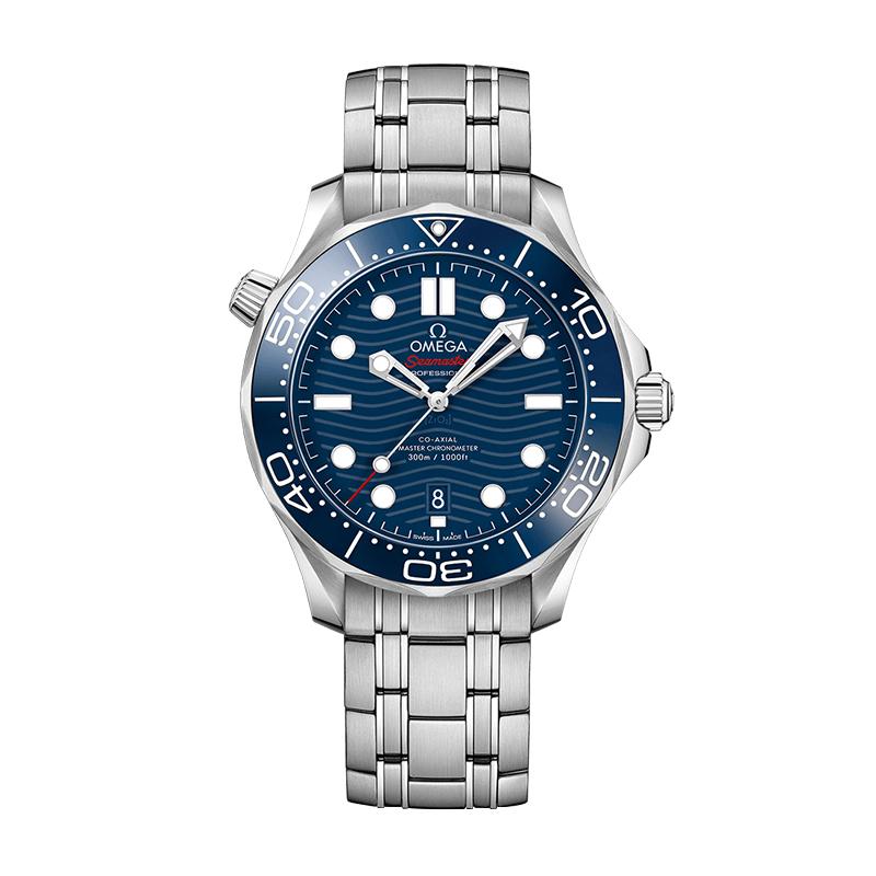 orologiUomoOmega Seamaster 300M Diver Co-Axial Master Chronometer Acciaio Quadrante Blu