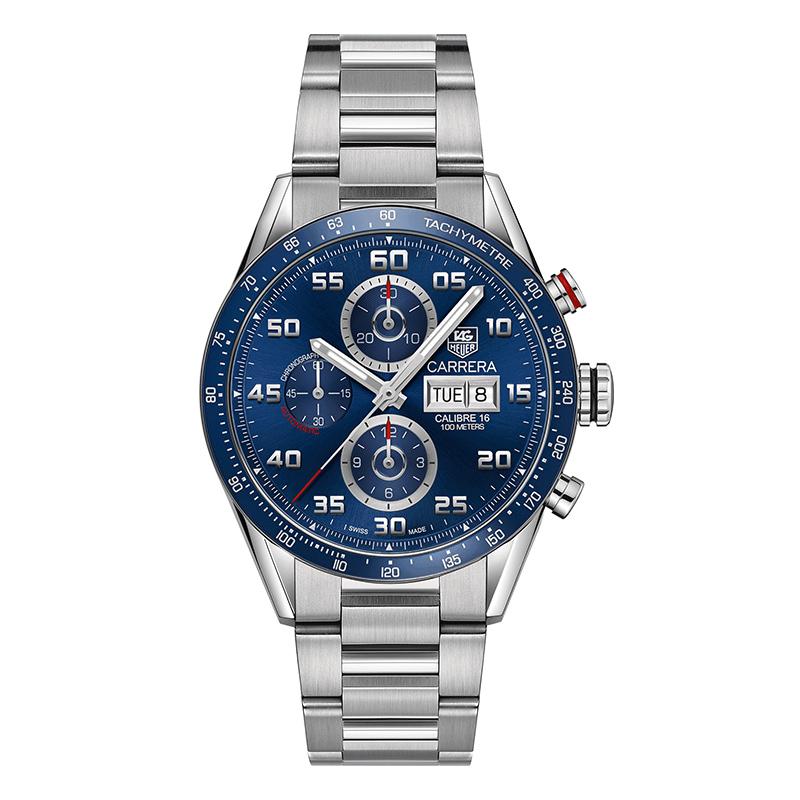 gioielli-e-orologiUomoOrologio Uomo Tag Heuer Carrera calibre 16 acciaio quadrante blu