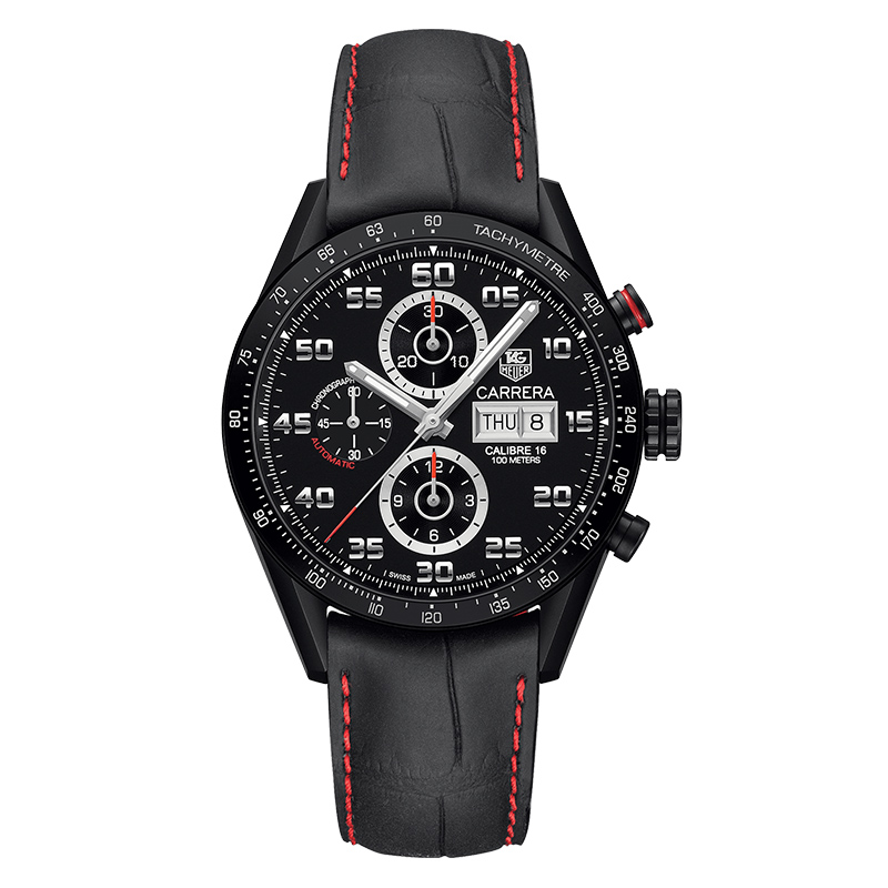 gioielli-e-orologiUomoOrologio Uomo Tag Heuer Carrera calibre 16 titanio sabbiato nero