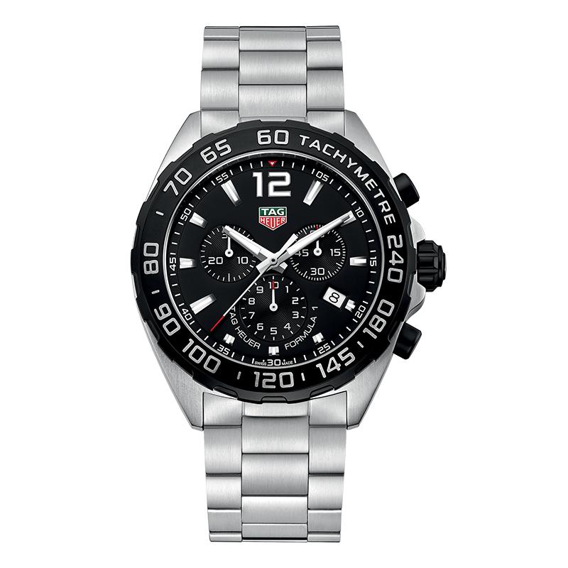 gioielli-e-orologiUomoOrologio Uomo Tag Heuer Formula1 acciaio quadrante nero