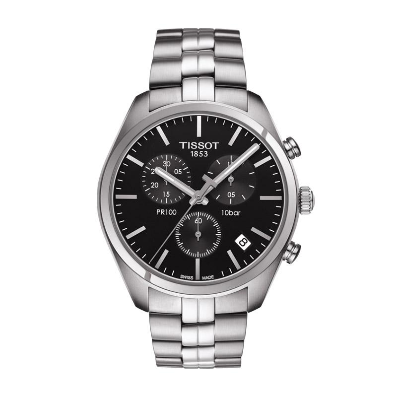 orologiUomoOrologio Uomo Tissot PR 100 chronograph quadrante nero