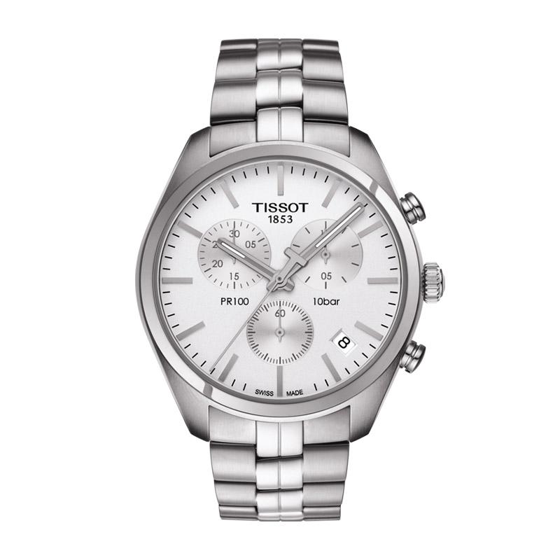gioielli-e-orologiUomoOrologio Uomo Tissot PR 100 chronograph quadrante silver