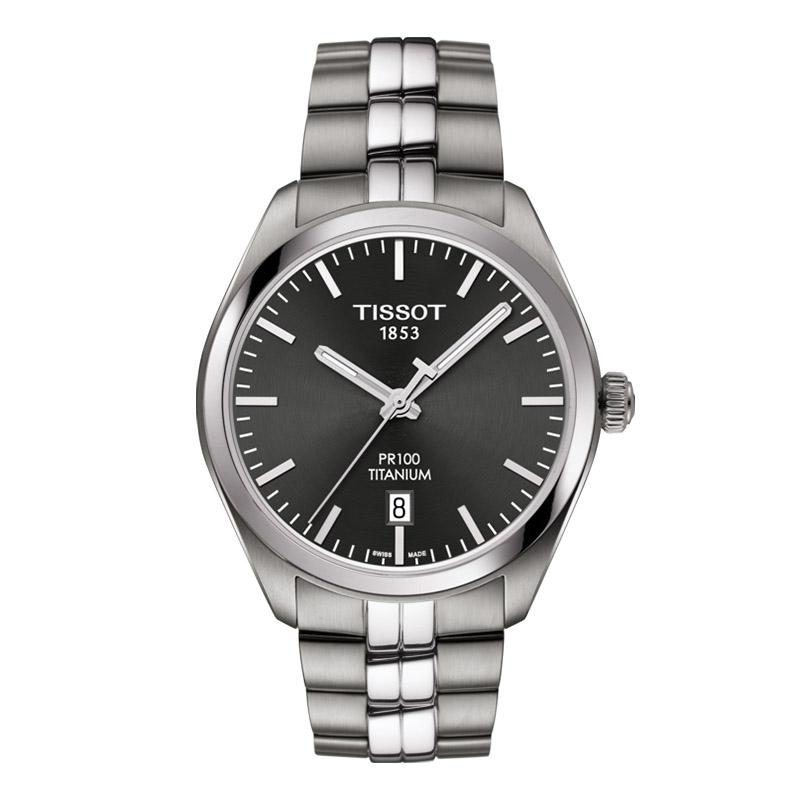 gioielli-e-orologiUomoOrologio Uomo Tissot PR 100 Titanium Quartz antracite