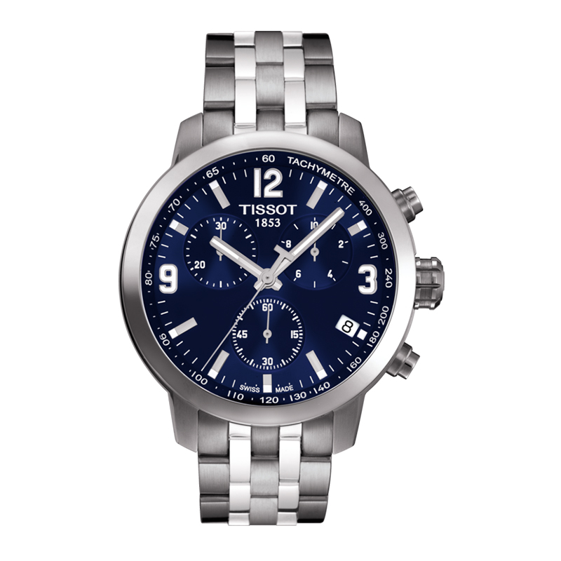 orologiUomoOrologio Uomo Tissot PRC 200 Chronograph quadrante blu