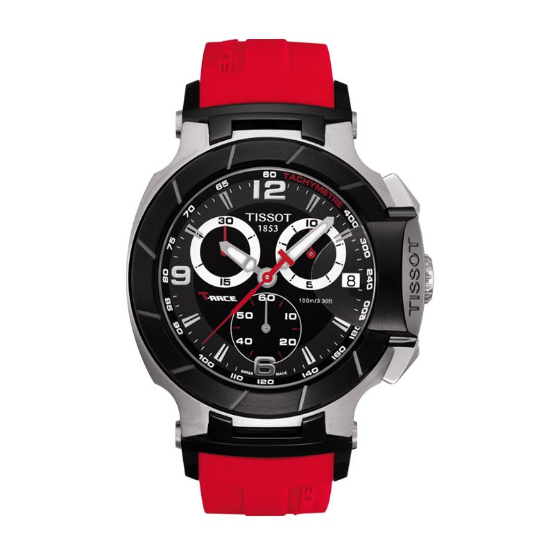orologiUomoOrologio Uomo Tissot T-Race Chronograph cinturino rosso