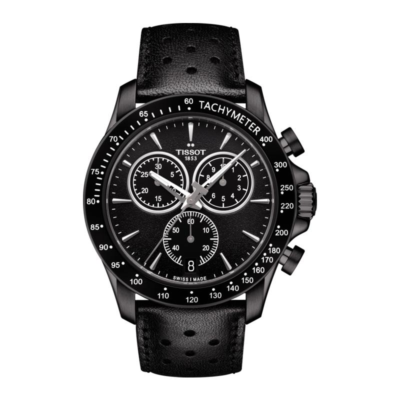 orologiUomoOrologio Uomo Tissot V8 Quartz Chronograph nero