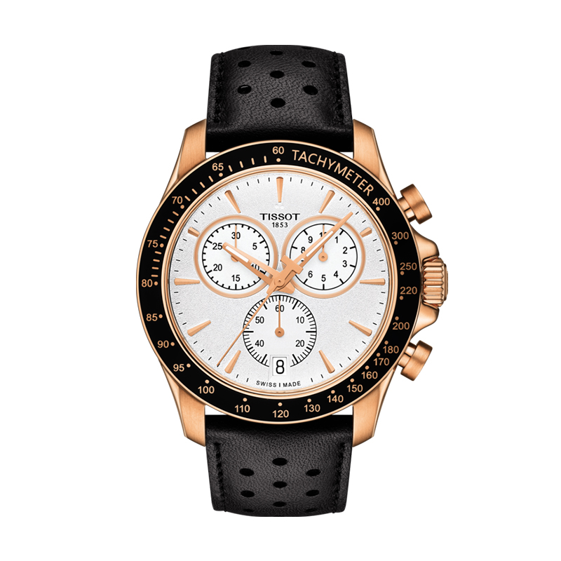 orologiUomoOrologio Uomo Tissot V8 Quartz Chronograph oro rosa PVD