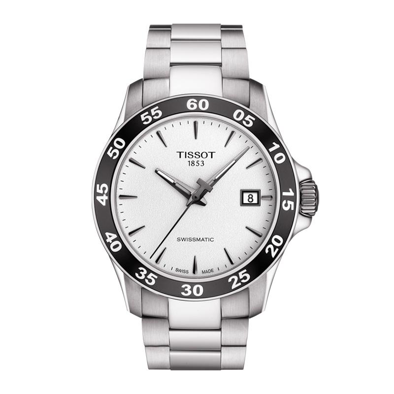 gioielli-e-orologiUomoOrologio Uomo Tissot V8 Swissmatic acciaio bianco