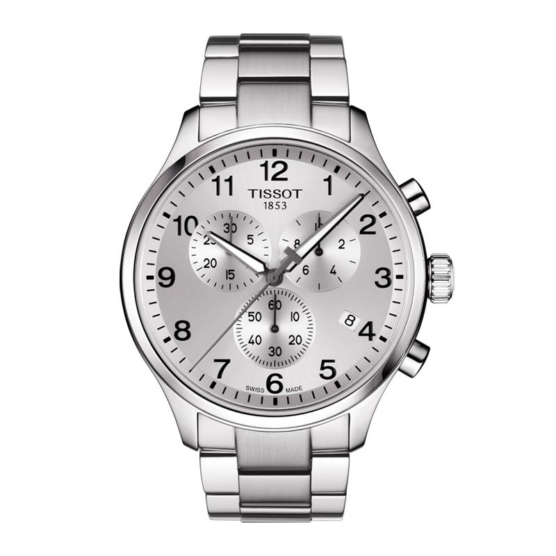 gioielli-e-orologiUomoOrologio Uomo Tissot XL Classic chrono acciaio quadrante argento