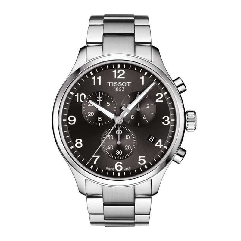 orologiUomoOrologio Uomo Tissot XL Classic chrono acciaio quadrante nero