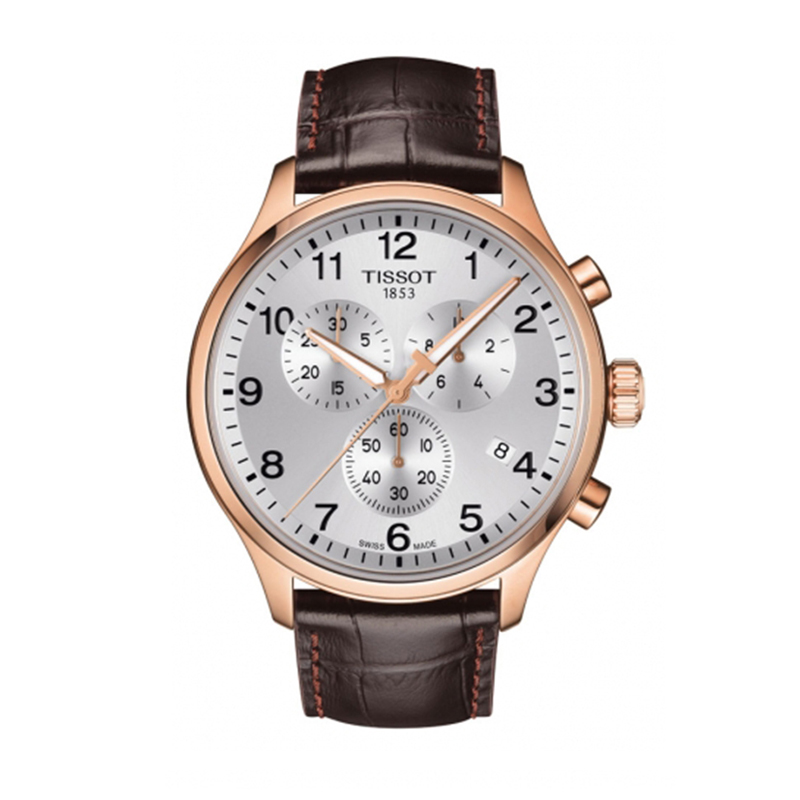 orologiUomoOrologio Uomo Tissot XL Classic chrono PVD quadrante argento