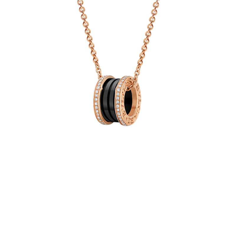 gioielliDonnaPendente Donna Bulgari B.zero1 ceramica nera diamante
