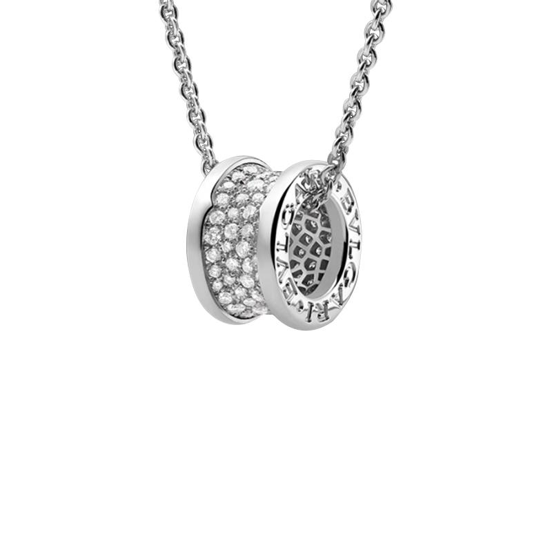 gioielliDonnaPendente Donna Bulgari B.zero1 diamante oro bianco