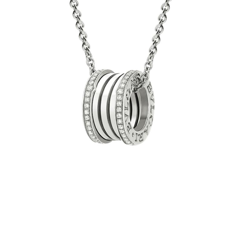 gioielliDonnaPendente Donna Bulgari B.zero1 oro bianco diamante