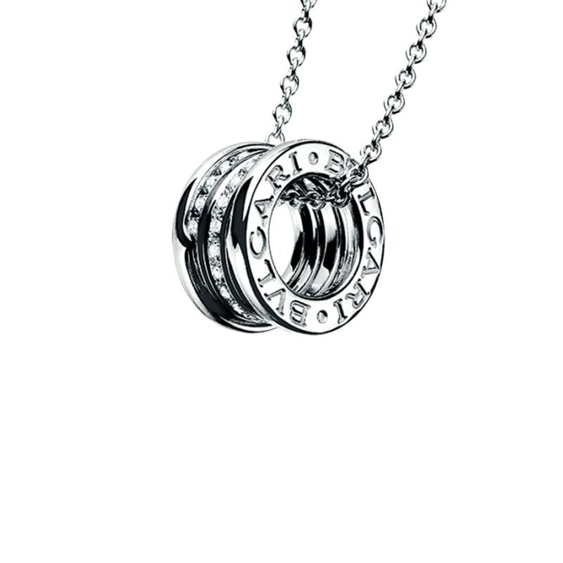 gioielliDonnaPendente Donna Bulgari B.zero1 oro bianco diamanti